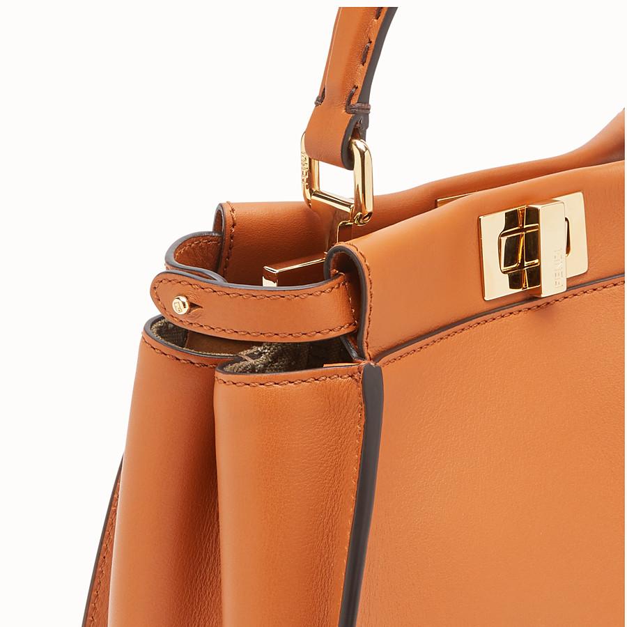 FENDI PEEKABOO ICONIC MINI - Brown leather bag - view 5 detail