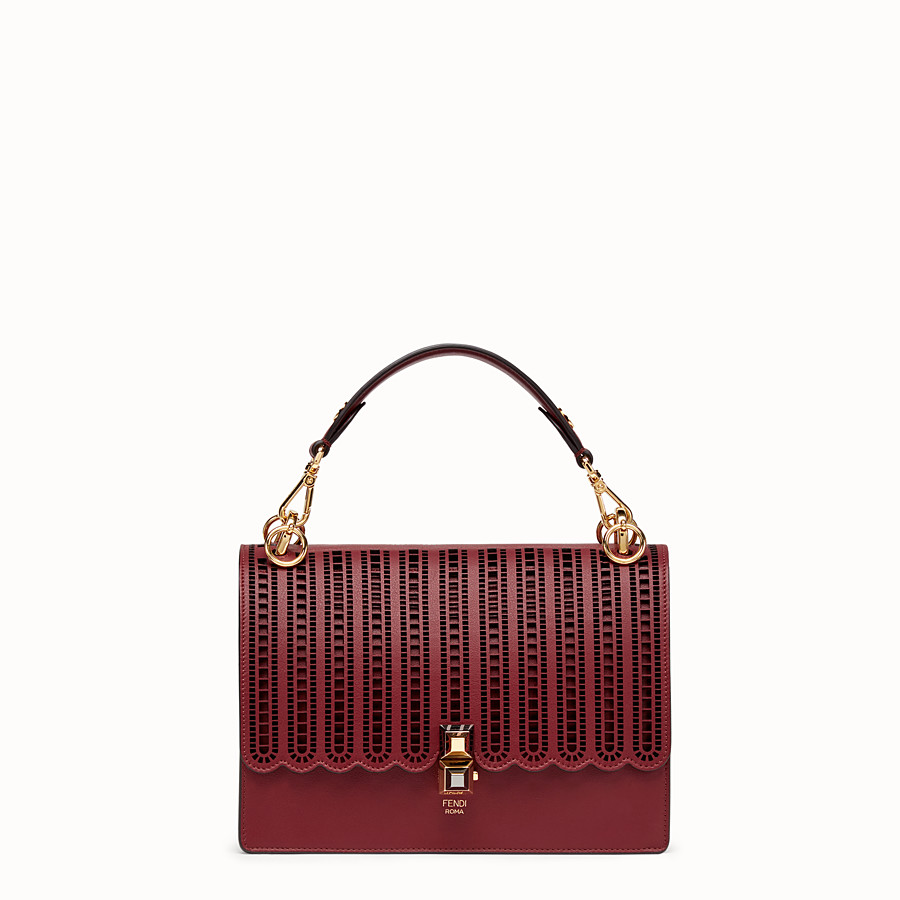 FENDI KAN I - Burgundy leather bag - view 1 detail