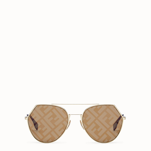 FENDI EYELINE - Gold-coloured sunglasses - view 1 small thumbnail