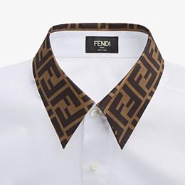 FENDI SHIRT - White cotton shirt - view 3 thumbnail