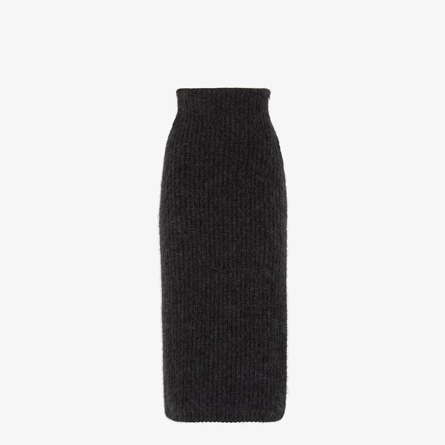 FENDI SKIRT - Grey mohair skirt - view 1 detail