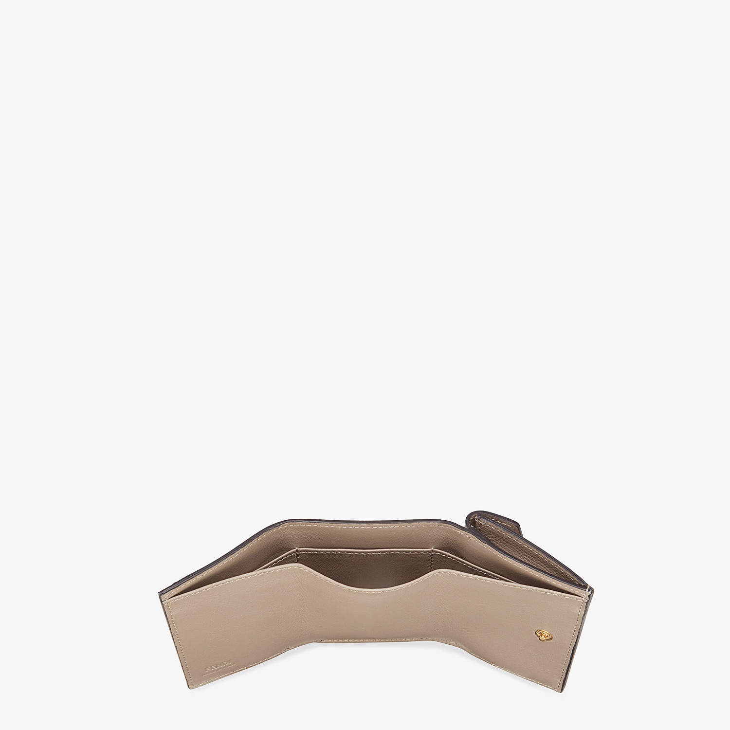 FENDI MICRO TRIFOLD - Beige leather wallet - view 5 detail