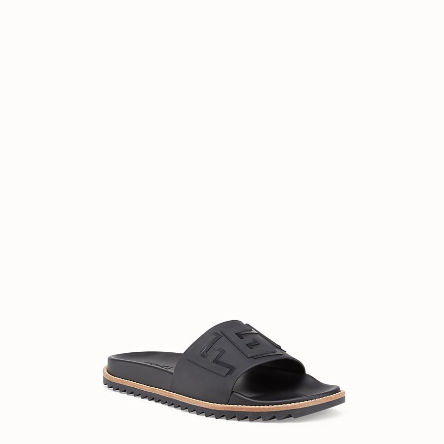 ded49ba382c Black rubber slides - SLIDES