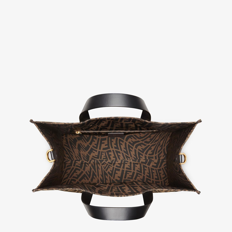 FENDI SHOPPER - Brown jacquard FF Vertigo bag - view 5 detail