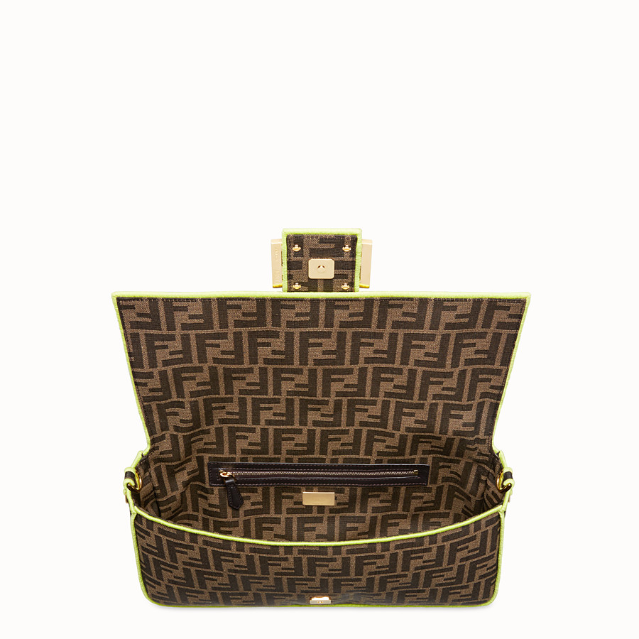 FENDI BAGUETTE LARGE - Fendi Roma Amor fabric bag - view 4 detail