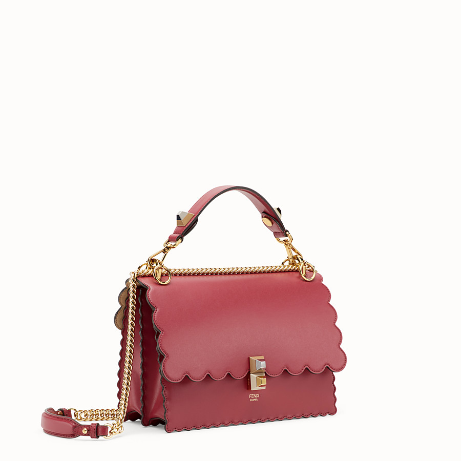 FENDI KAN I - Red leather bag - view 2 detail