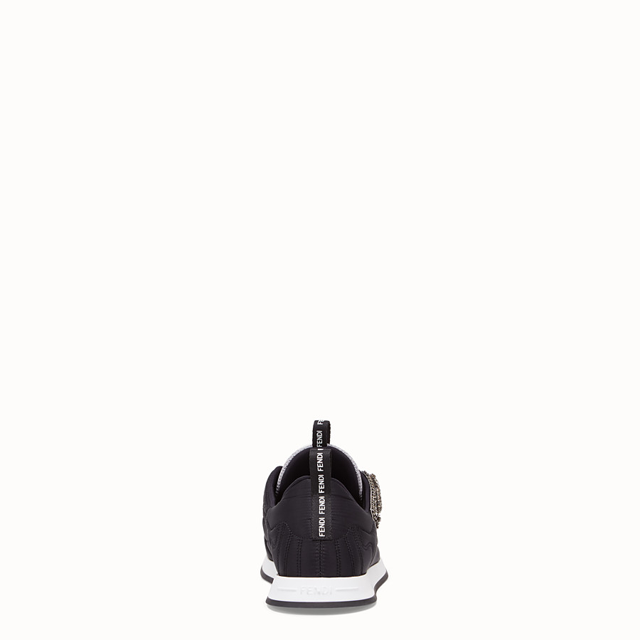 FENDI SNEAKERS - Black satin sneakers - view 3 detail
