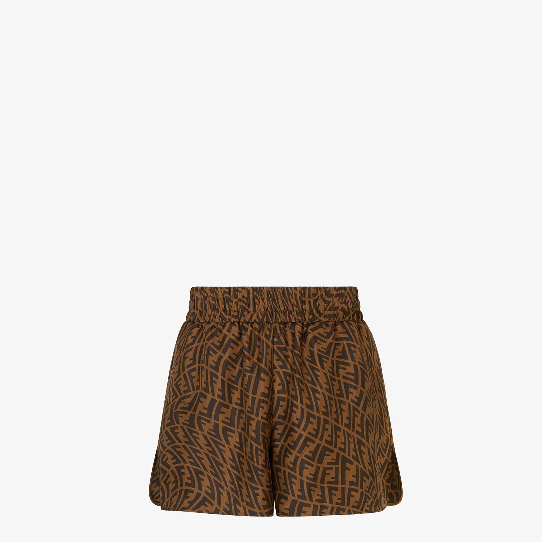 FENDI BERMUDAS - Brown silk pants - view 1 detail