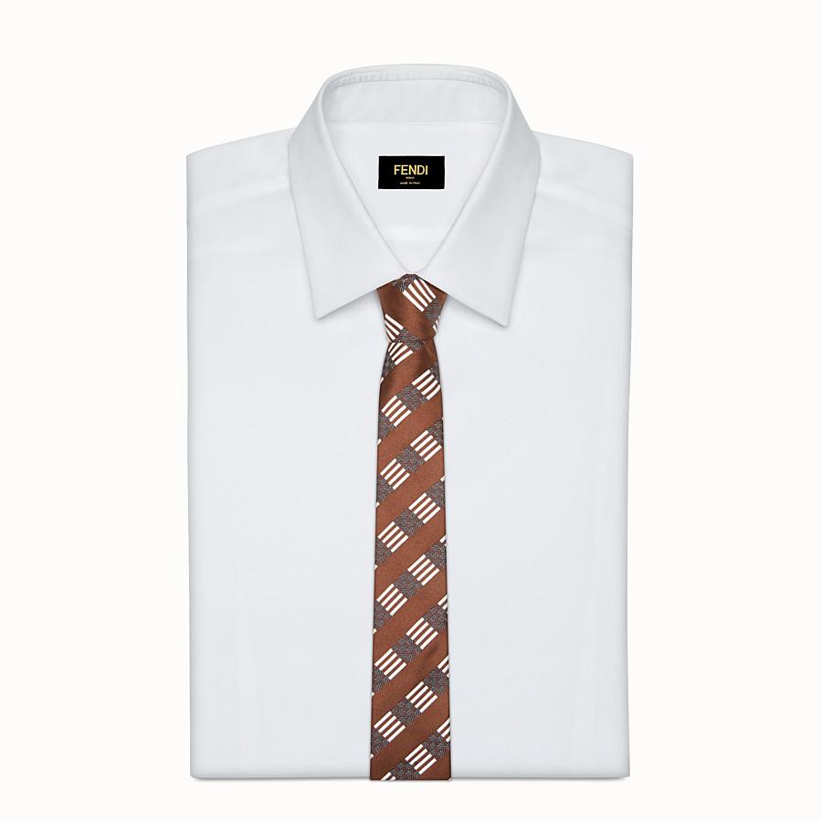 FENDI TIE - Multicolour silk tie - view 2 detail