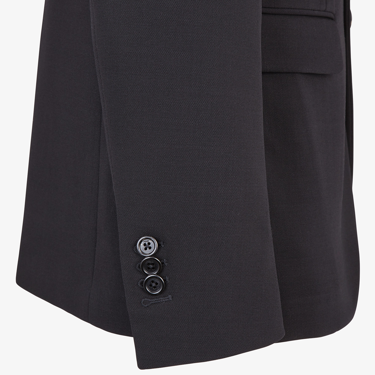 FENDI JACKET - Black wool blazer - view 4 detail