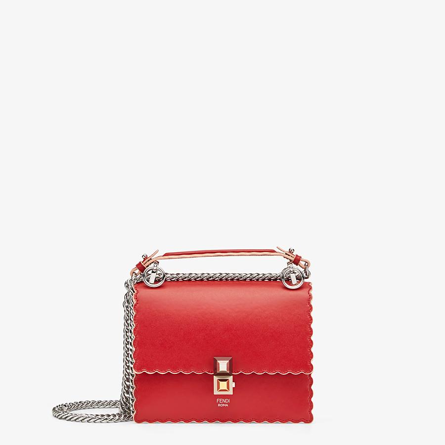 FENDI KAN I SMALL - Red leather mini-bag - view 1 detail