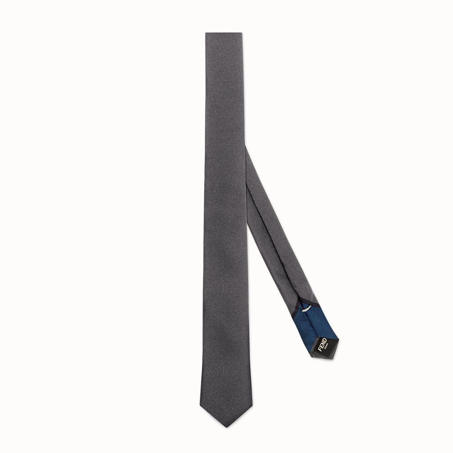 FENDI PAPILLON - 以灰色及藍色斜紋真絲縫製 - view 1 detail