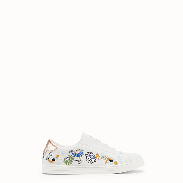 FENDI SNEAKER - Slip on in pelle bianca - vista 1 thumbnail piccola