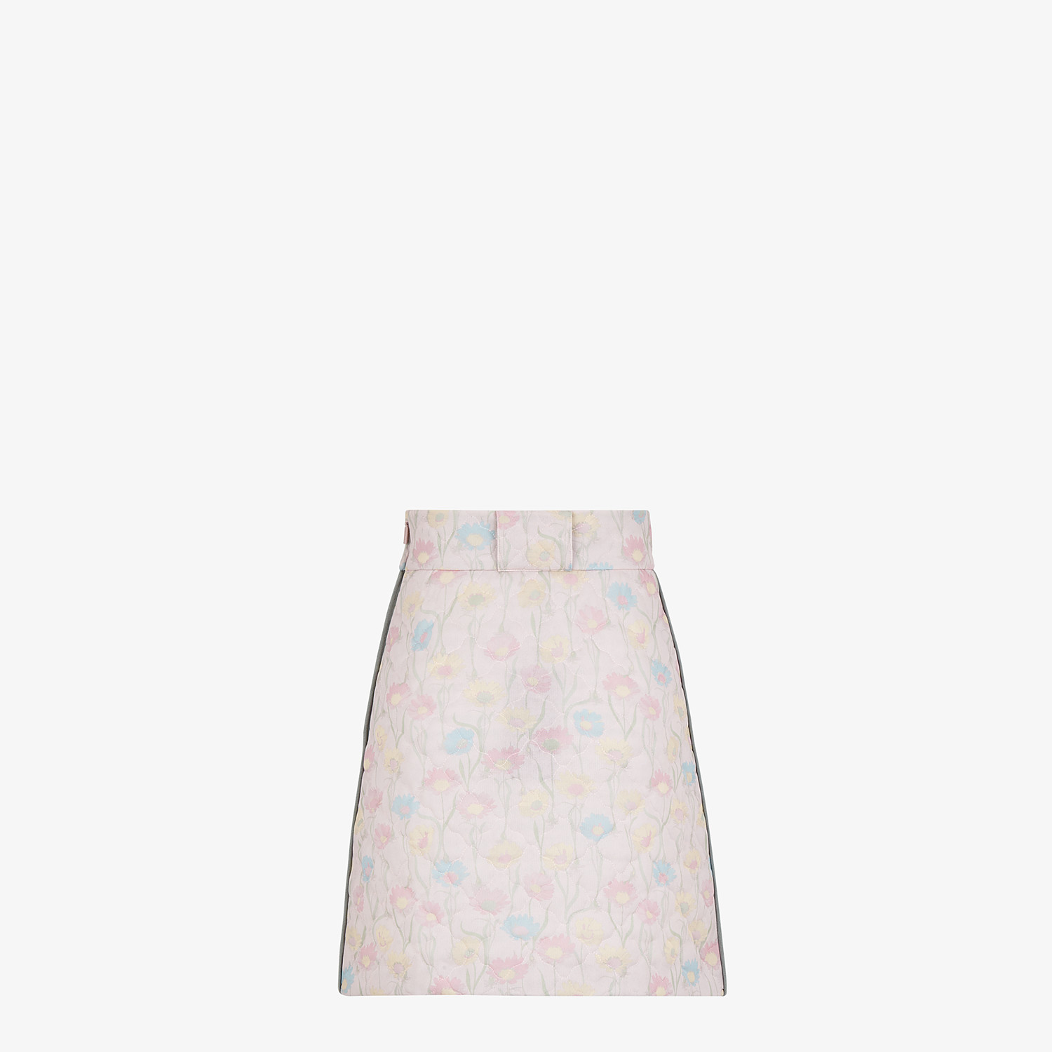 FENDI SKIRT - Pink quilted fabric skirt - view 2 detail