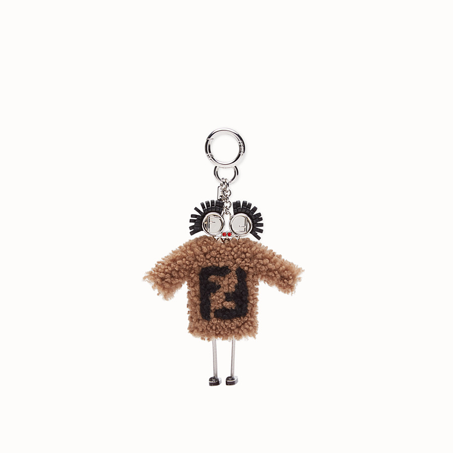 FENDI CHARM TEEN WITCHES - Charm in montone marrone - vista 2 dettaglio