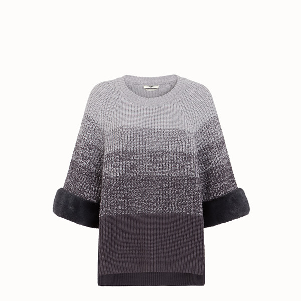 FENDI SWEATER - Gray wool sweater - view 1 small thumbnail