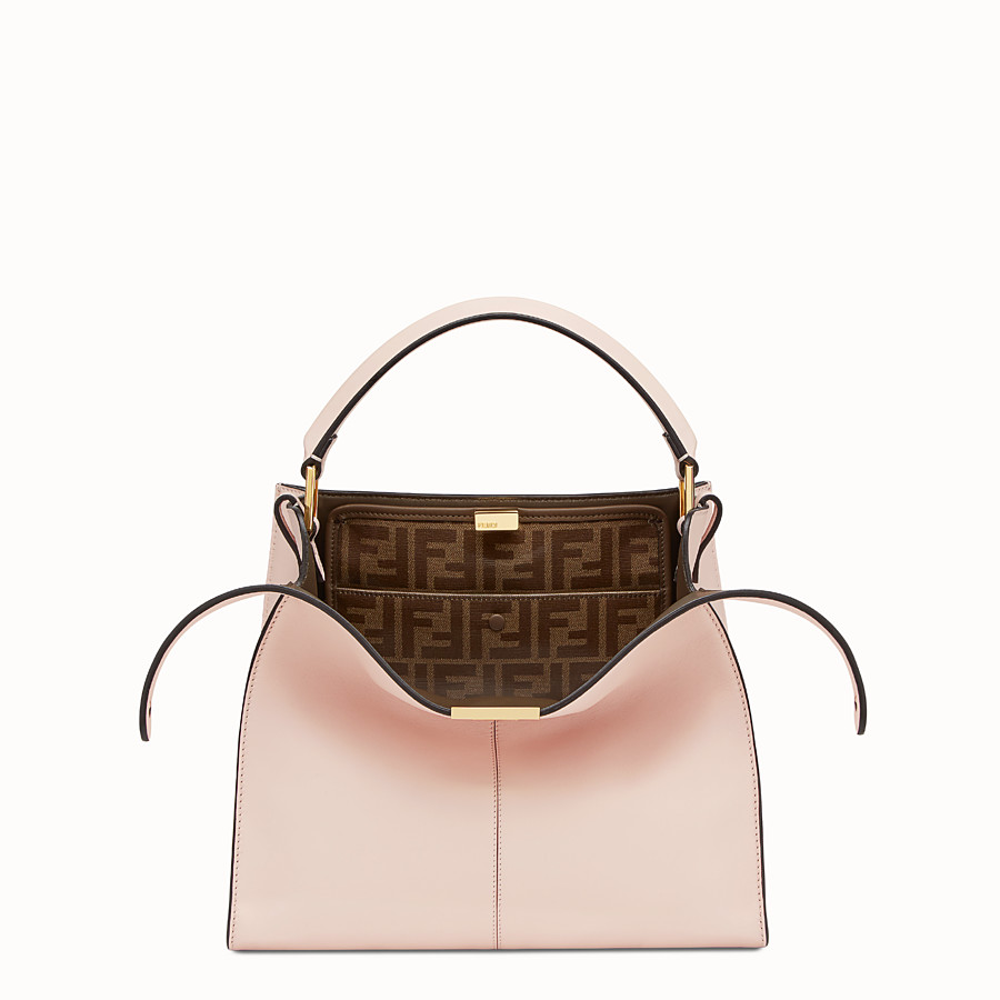 FENDI PEEKABOO X-LITE REGULAR - Pink leather bag - view 1 detail
