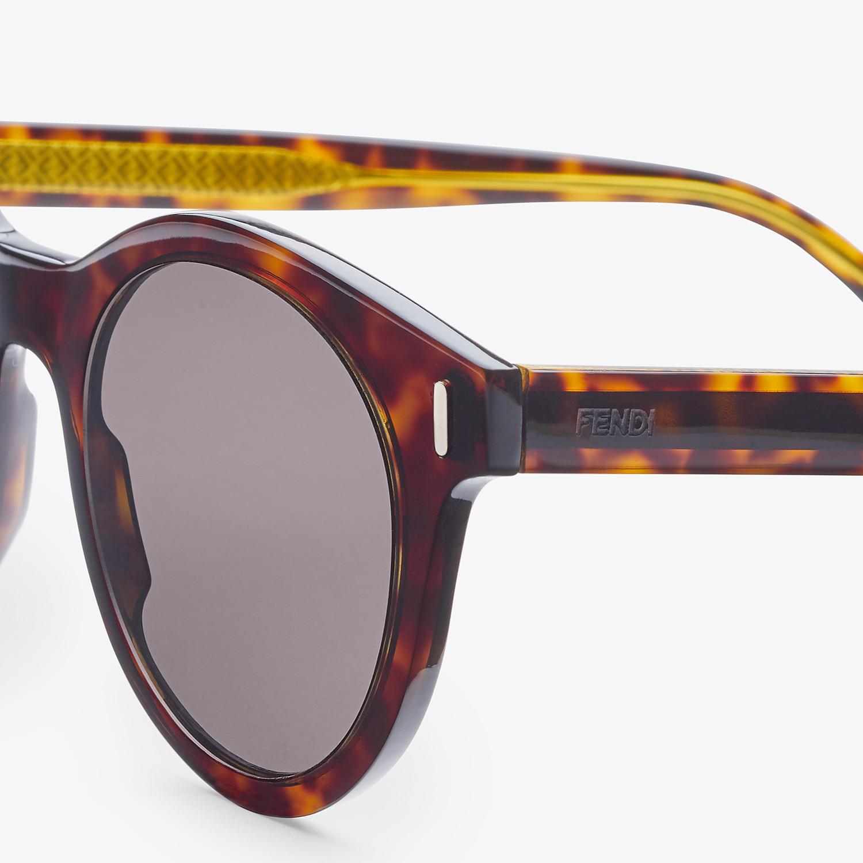 FENDI FENDI - Havana sunglasses - view 3 detail