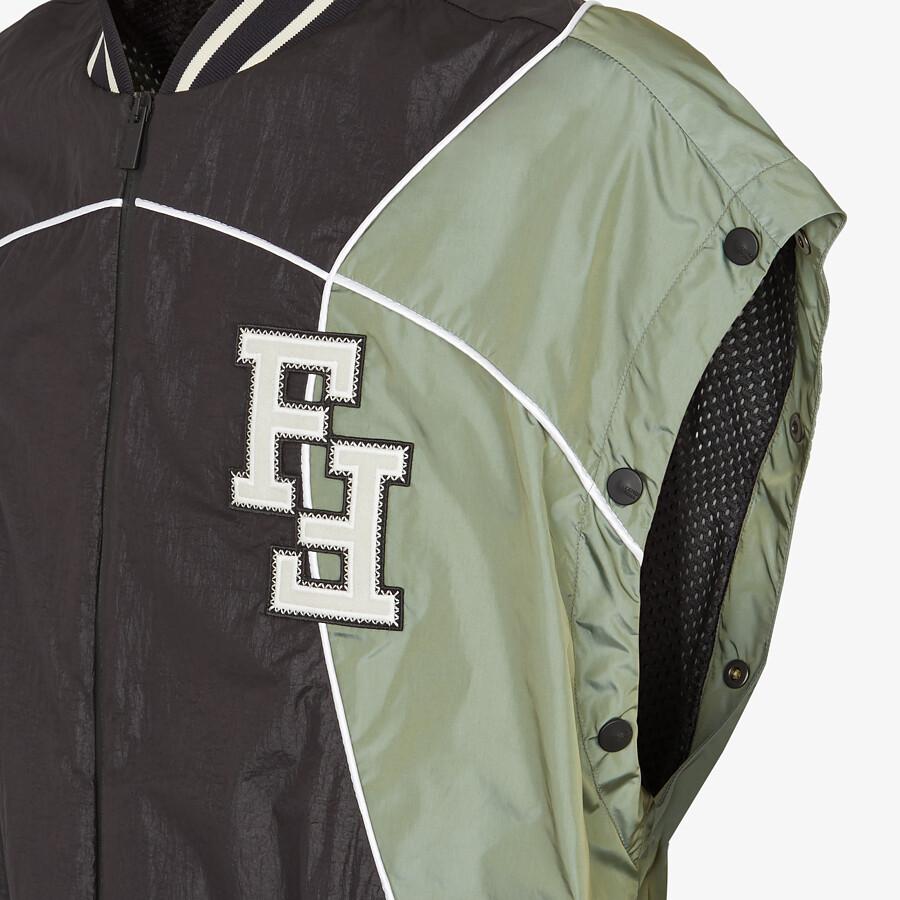 FENDI BOMBER - Multicolor tech fabric jacket - view 3 detail