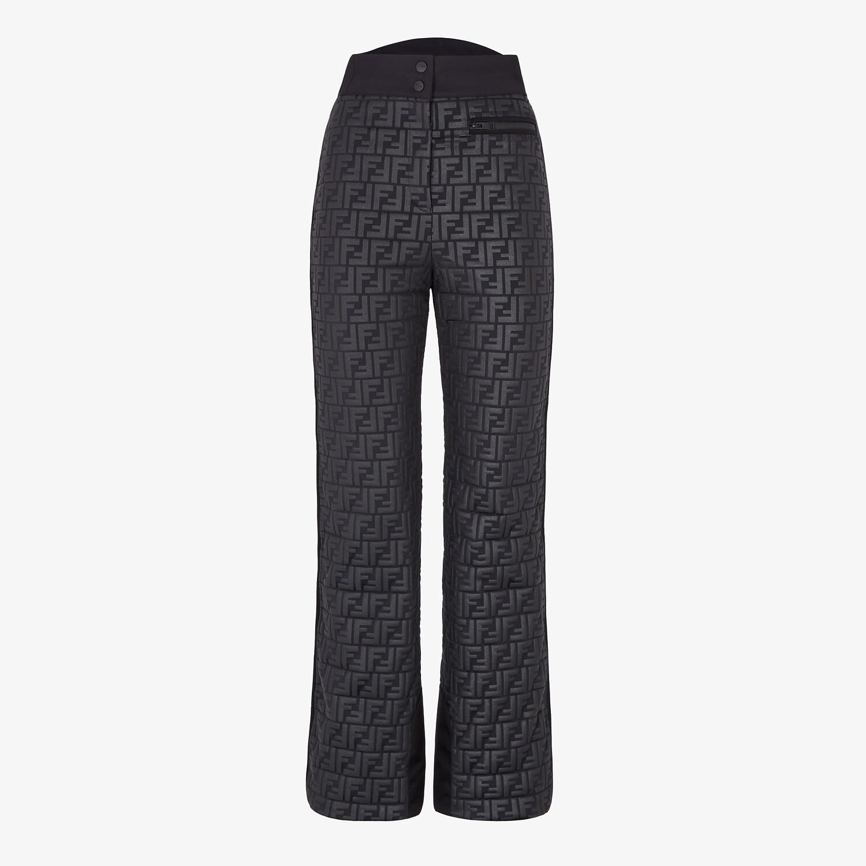 FENDI PANTALONE DA SCI - Pantalone in nylon nero - vista 1 dettaglio