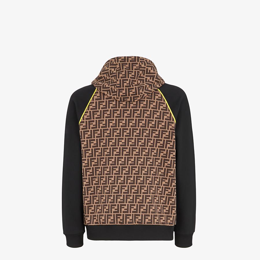 FENDI SWEATSHIRT - Brown cotton jersey sweater - view 2 detail