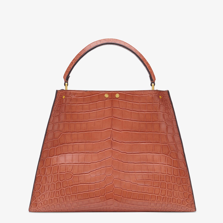 FENDI PEEKABOO X-LITE LARGE - Red crocodile leather bag - view 4 detail