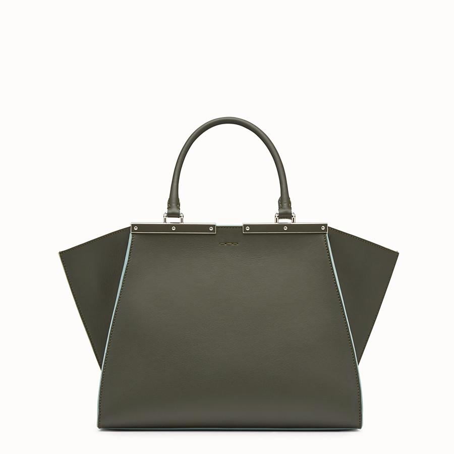 FENDI 3JOURS - Green leather shopper bag - view 3 detail