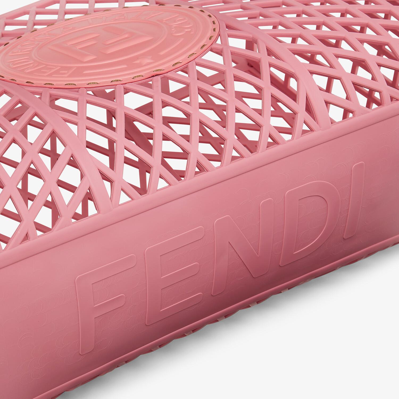FENDI FENDI BASKET MEDIUM - Pink recycled plastic mini-bag - view 6 detail