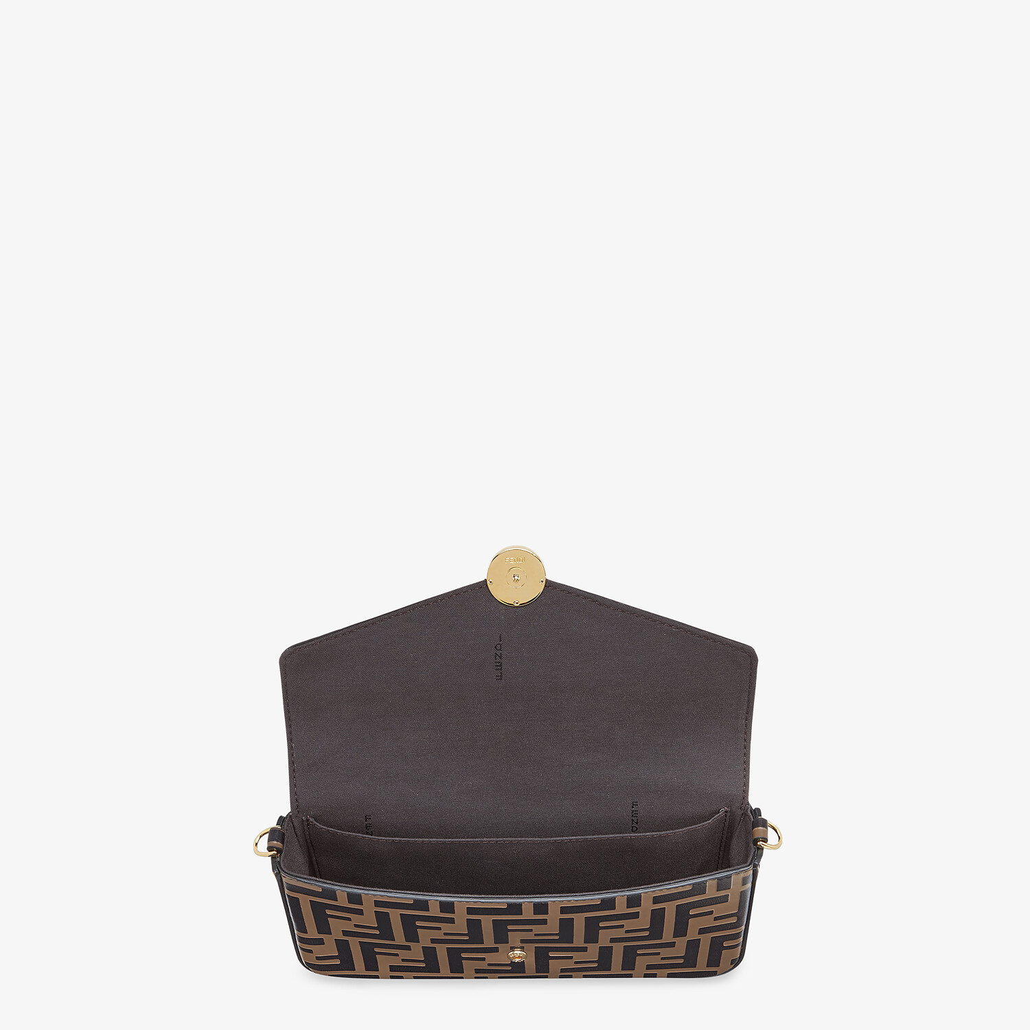 FENDI WALLET ON CHAIN WITH POUCHES - Brown leather mini-bag - view 5 detail