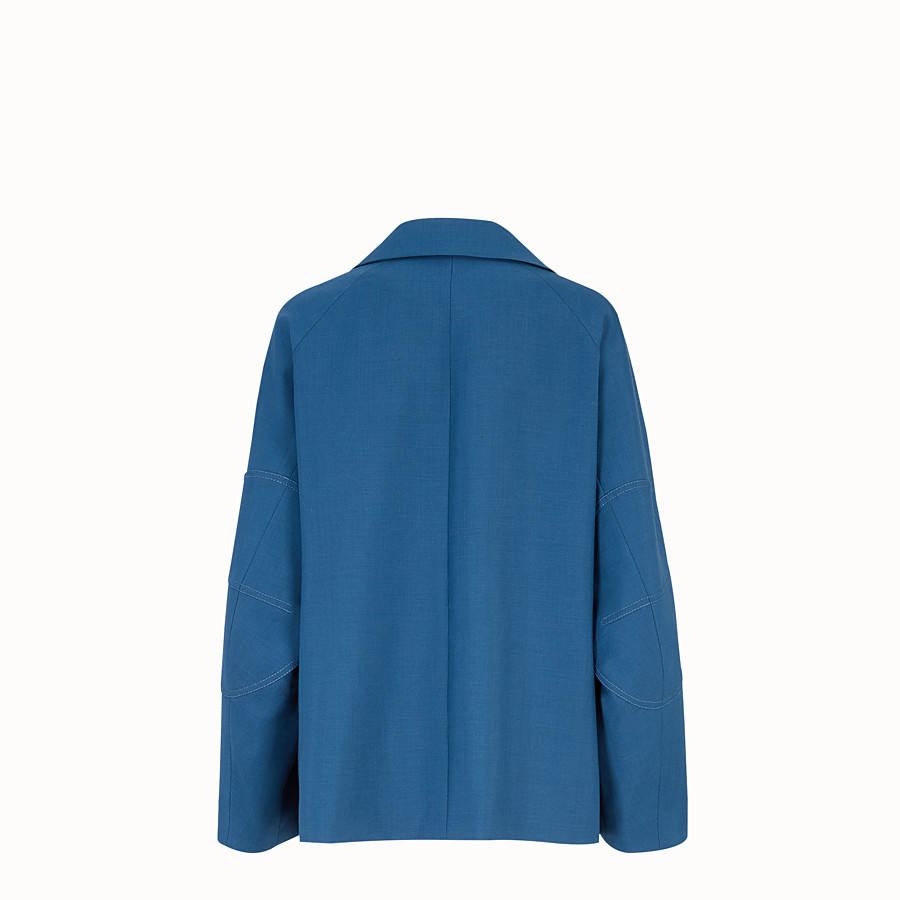 FENDI JACKE - Jacke aus Mohair in Blau - view 2 detail