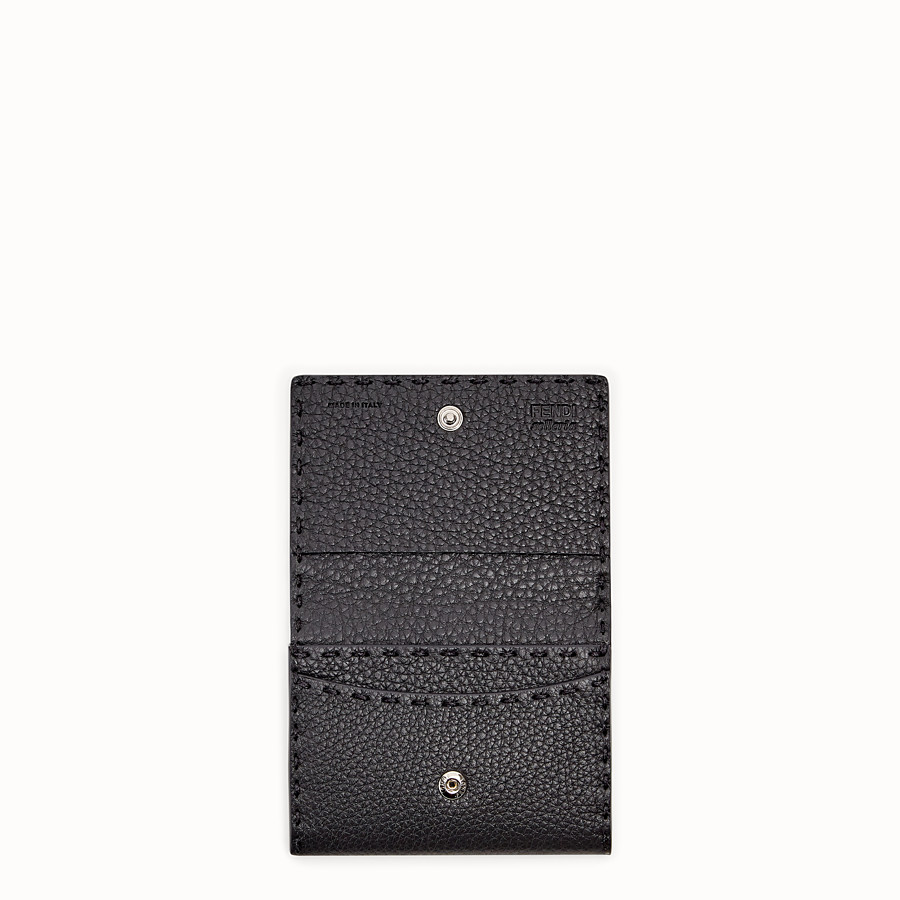 FENDI CARD HOLDER - Grey leather business card holder - view 3 detail