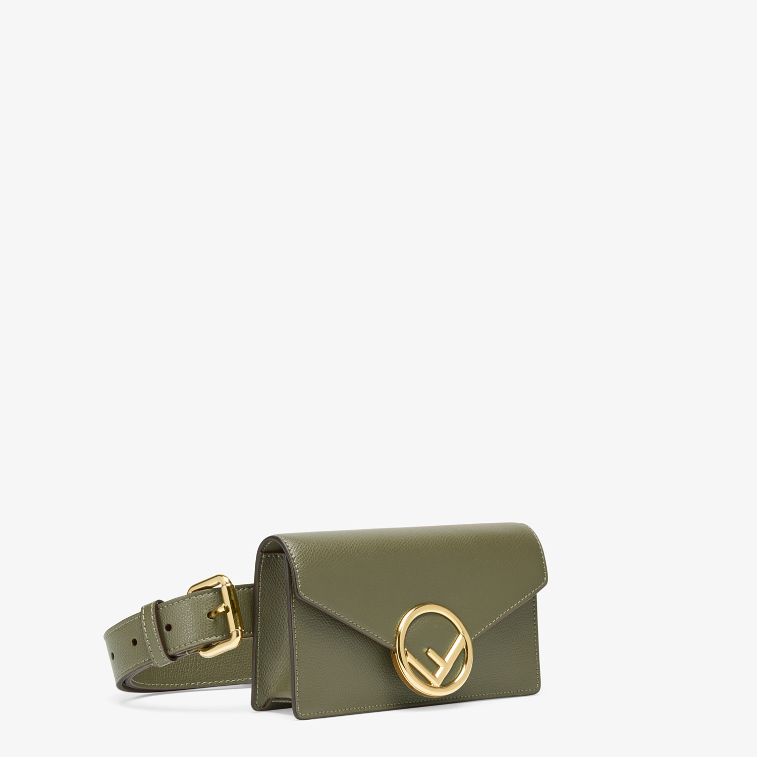 FENDI BELT BAG - Green leather belt bag - view 2 detail