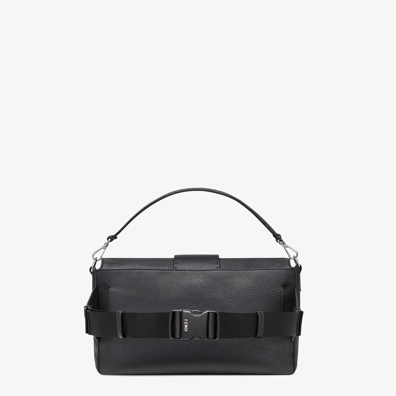 FENDI BAGUETTE LARGE - Black, calf leather bag - view 3 detail