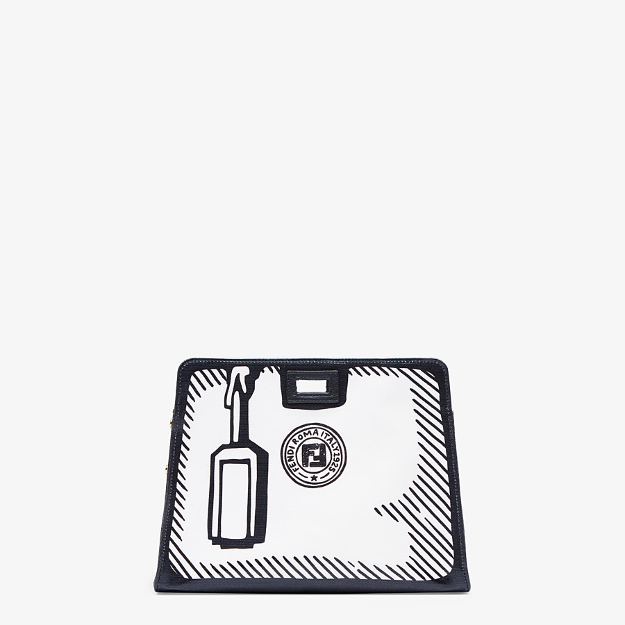FENDI PEEKABOO DEFENDER SMALL - White canvas Peekaboo cover - view 1 detail