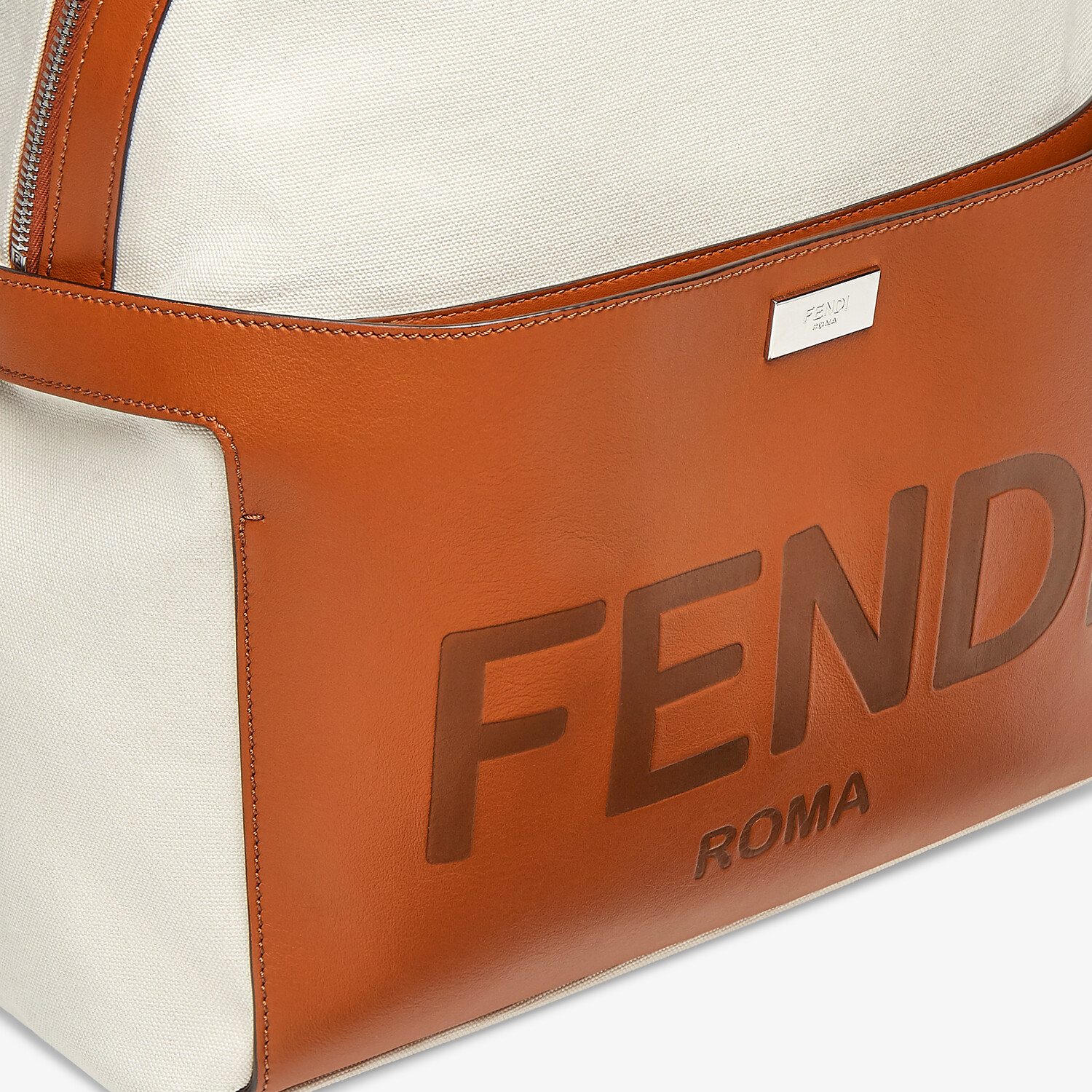 FENDI ESSENTIAL BACKPACK - Undyed canvas backpack - view 5 detail