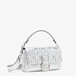 FENDI BAGUETTE LARGE - Silver leather bag - view 3 thumbnail