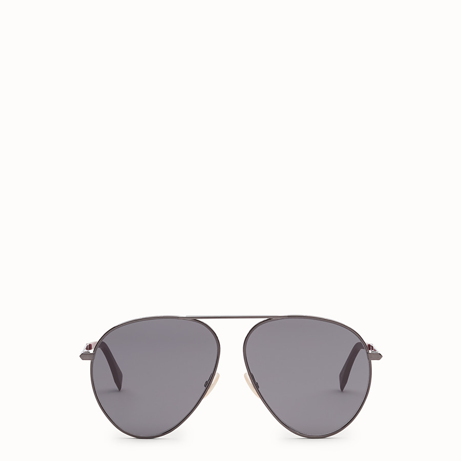FENDI FENDI AROUND - Dark ruthenium sunglasses - view 1 detail