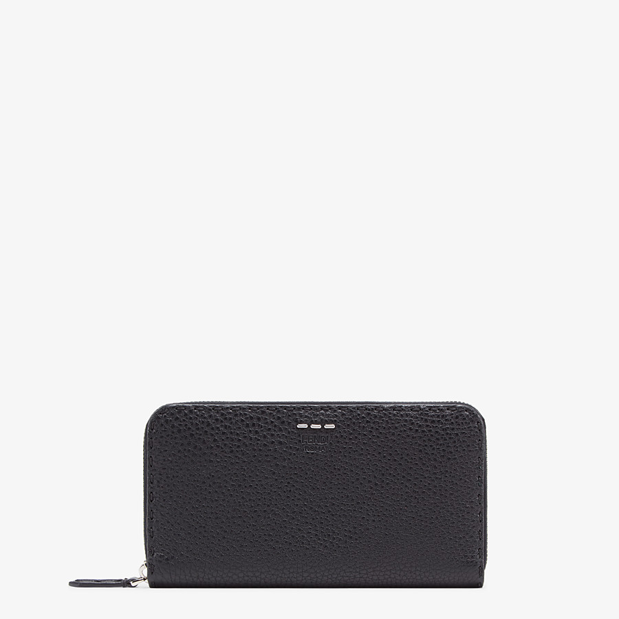 FENDI WALLET - Black leather wallet - view 1 detail