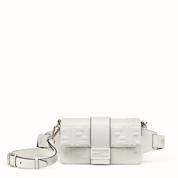 FENDI BAGUETTE - White nappa leather bag - view 1 small thumbnail