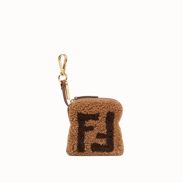 FENDI TOAST BAG CHARM - Multicolor shearling charm - view 1 small thumbnail