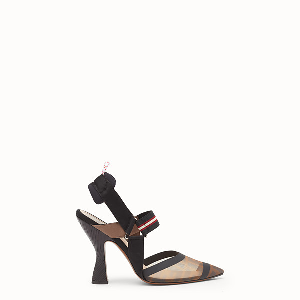 FENDI SLINGBACKS - Multicolor technical mesh slingbacks - view 1 small thumbnail