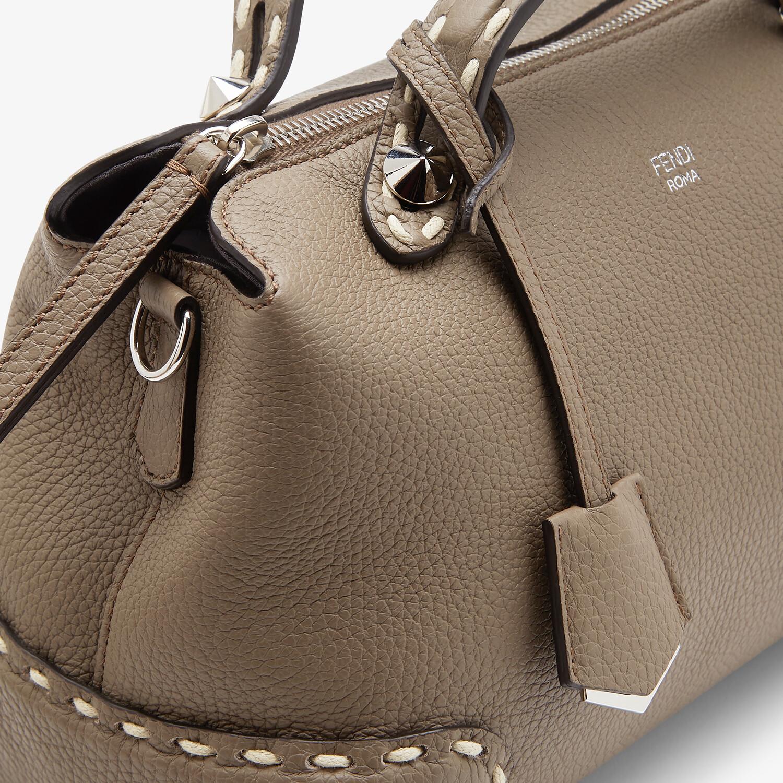 FENDI BY THE WAY MEDIUM - Gray full grain leather Boston bag - view 5 detail