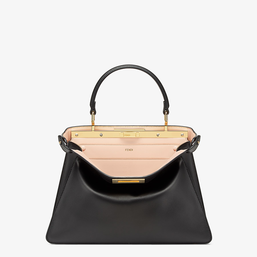 FENDI PEEKABOO ISEEU MEDIUM - Black leather bag - view 1 detail