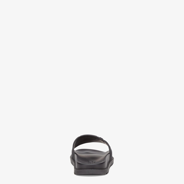 FENDI SLIDES - Black rubber slides - view 3 detail