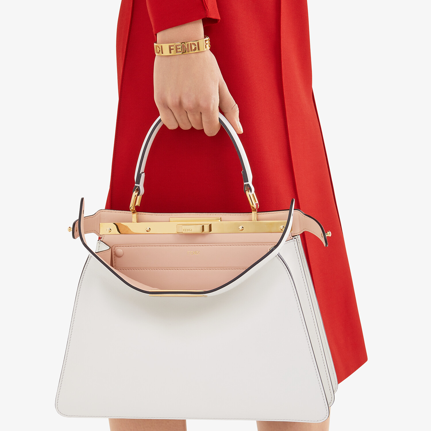 FENDI PEEKABOO ISEEU MEDIUM - White leather bag - view 2 detail