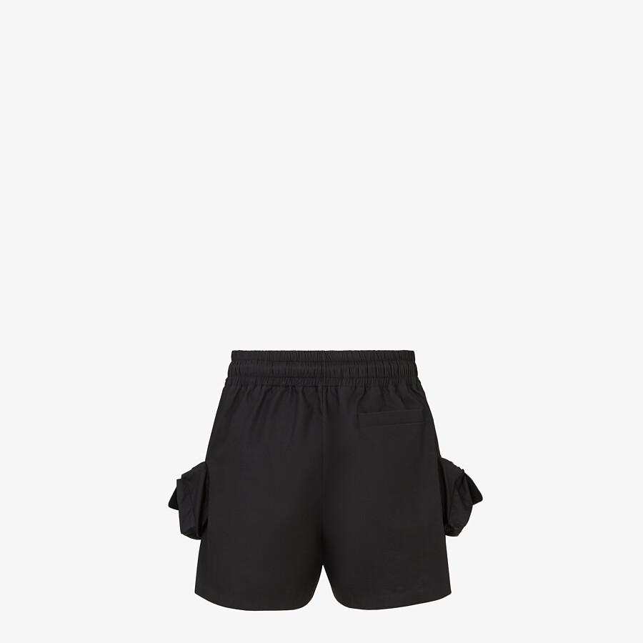 FENDI BERMUDAS - Black nylon pants - view 2 detail