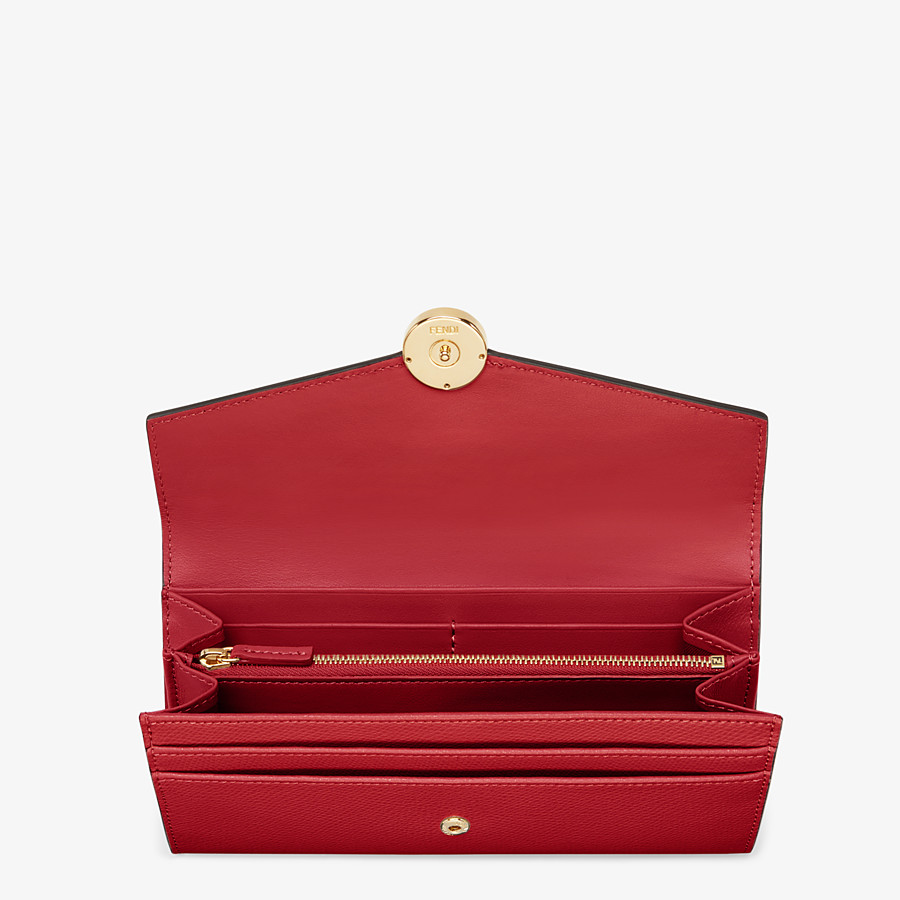 FENDI CONTINENTAL - Red leather wallet - view 4 detail