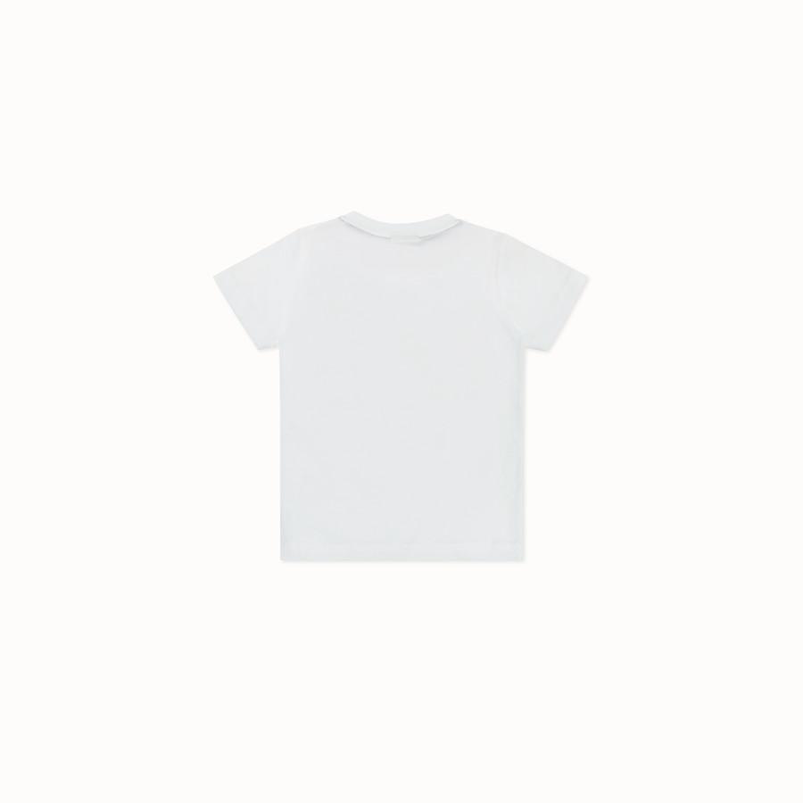 FENDI FENDIRUMI T-SHIRT - White jersey T-shirt - view 2 detail