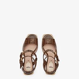 FENDI SANDALES - Sandales en tissu marron - view 4 thumbnail