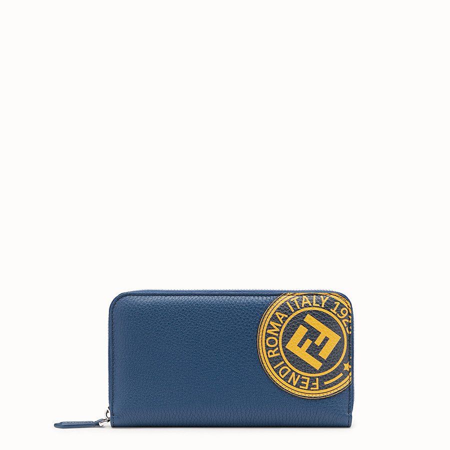 FENDI WALLET - Blue leather wallet - view 1 detail